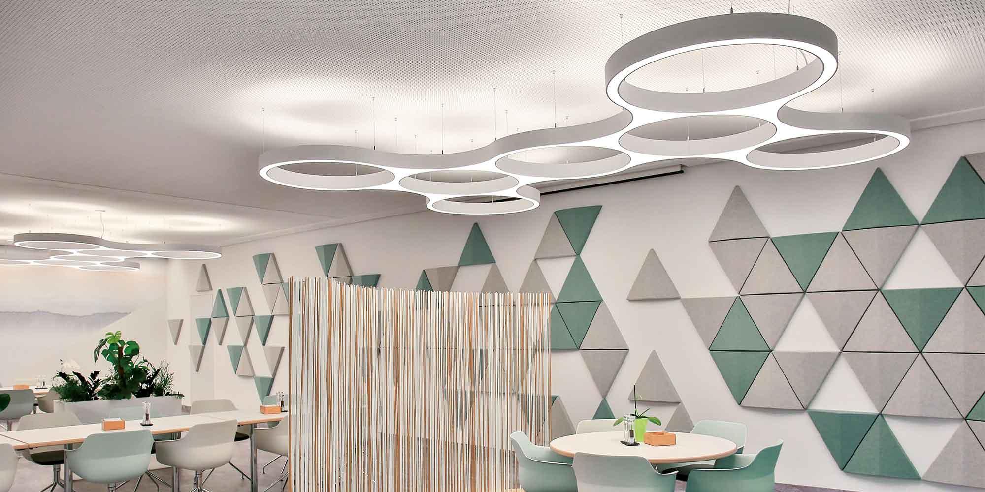 Ringostar Cluster von Lightnet, architektonisches Licht passt in jede Lichplanung
